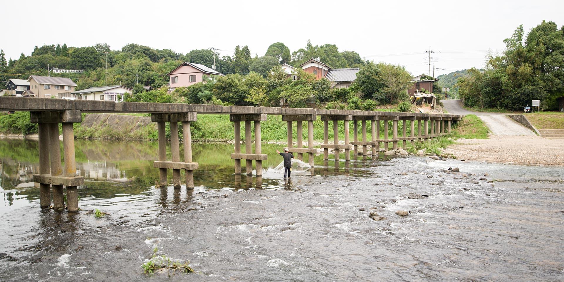 島田川沈下橋 旭橋